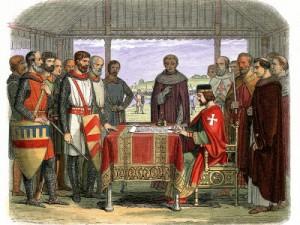 King John signing Magna Charta image